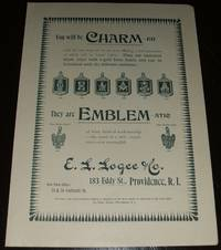 image of Original 1893 Illustrated Advertisement for E. L. Logee Company Emblems_ Charms