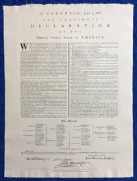 The Declaration of Independence – Replica of Mary Katharine Goddard's 1777 Broadside