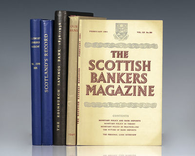 Edinburgh and London: Various Publishers, 1875-1961. Fine collection of rare Scottish banking first ...