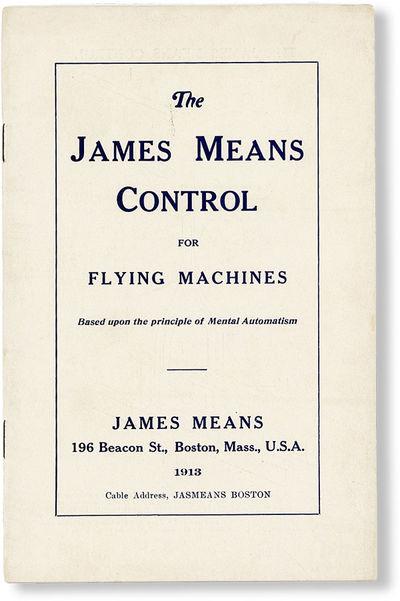 Boston: James Means, 1913. Ephemera. 12mo (18cm). Staple-bound printed wrappers; . Trivial external ...