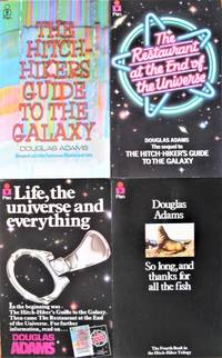image of The First Four Title in the Hitchkiders Series: The Hitchhikers Guide to the Galaxy,  The Restaurant at the End of the World, Life, the Universe and Everything, and So Long, and Thanks for All the Fish
