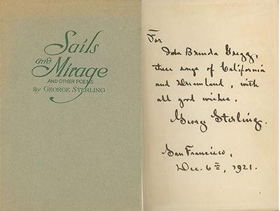 San Francisco: A. M. Robertson, 1921, 1921. First edition. BAL 18797; Mattila A25. Cloth slightly wo...