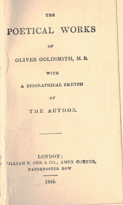 London: William Orr, 1848. 24 mo, pp. 71, 71 + adv. Bound in publisher's cloth stamped in gilt. AEG....