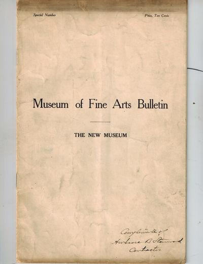 Boston: Museum of Fine Arts, 1907. SIGNEDat bottom front wrapper -