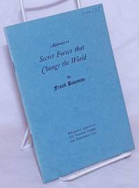 image of Addenda to Secret Forces that Change the World (Preface to the Fourth Printing)