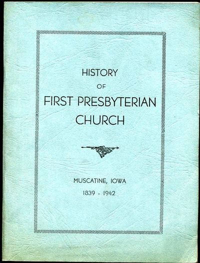 Muscatine, IA: published by author, 1942. Book. Very good condition. Paperback. First Edition. 12mo ...