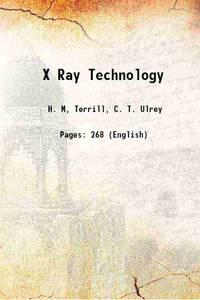 X Ray Technology 1930
