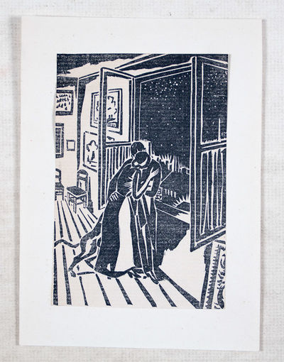 Hamburg: NP, 1962. Loose leaf. vg- to vg+. A collection of 7 woodcut illustrations by acclaimed Flem...