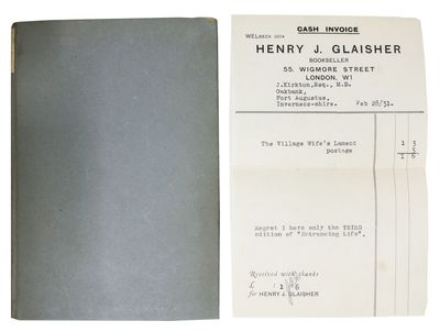 London: Martin Secker, 1918. 1st edition. Grey boards with paper label on spine. VG+ (light edgewear...