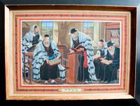 Tefillah, Original painting of a group of five men praying in the synagogue