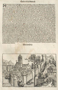 Alexandria, Egypt in the Liber chronicarum- Nuremberg Chronicle, an individual page from the Chronicle Alexandria, Plate No. LXXVII