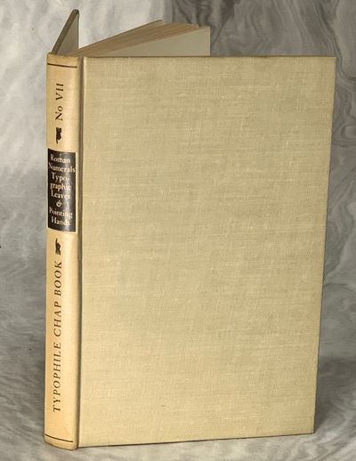 New York, NY: The Typophiles, 1942. First Edition. Hardcover. Very Good. Series: Typophile Chapbook,...