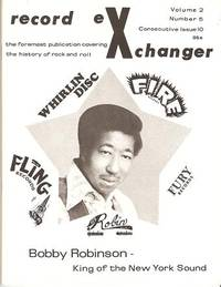 RECORD EXCHANGER,  Volume 2, No. 5,  Consecutive Issue 10, 1972:; The Foremost Publication Covering the History of Rock and Roll