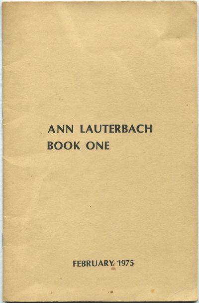 , 1975. Softcover. Near Fine/Near Fine. Apparent second edition. Oblong large octavo. Stapled printe...
