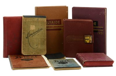 Oregon: , 1954. Very Good. A collection of nine diaries in various formats spanning the years 1944 t...
