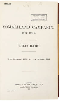 Somaliland Campaign. 1902-1904. Telegrams. 19th October 1902 to 4th August, 1904