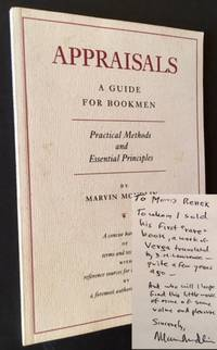 Appraisals: A Guide for Bookmen --Practical Methods and Essential Principles
