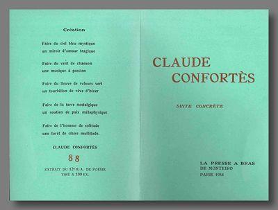 Paris: La Presse a Bras de Monteiro, 1954. 12mo. Oblong sheet folded to make eight panels (142 x 95m...