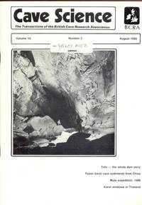 Cave Science. The Transactions of the British Cave Research Association. Volume 16, Number 2, August 1989