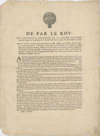 De Par le Roy en l'assemblée de la police d'Angers tenue au Parquet de l'Audience de la Prevosté du-dit lieu le Lundy. Jullet 1689