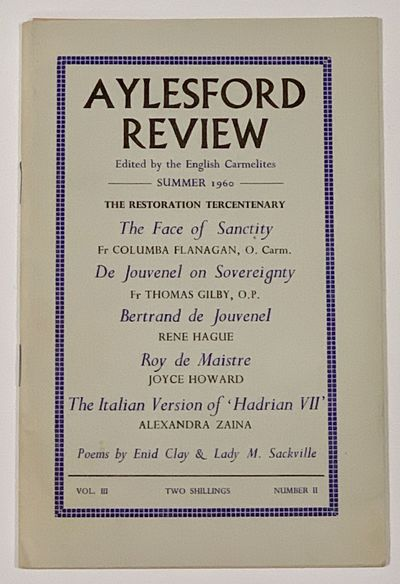 Llandeilo, Carmarthenshire: St. Albert's Press, 1960. 1st Printing. Printed grey paper covers, stapl...