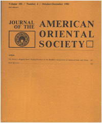 Journal of the American Oriental Society (Volume 101, No. 4, Oct/Dec 1981)
