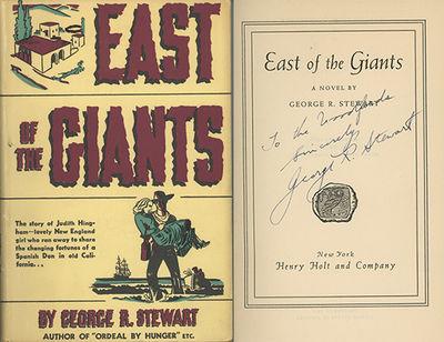 New York: Henry Holt, 1938, 1938. First edition. Baird & Greenwood, California Fiction, 2355. Fine c...