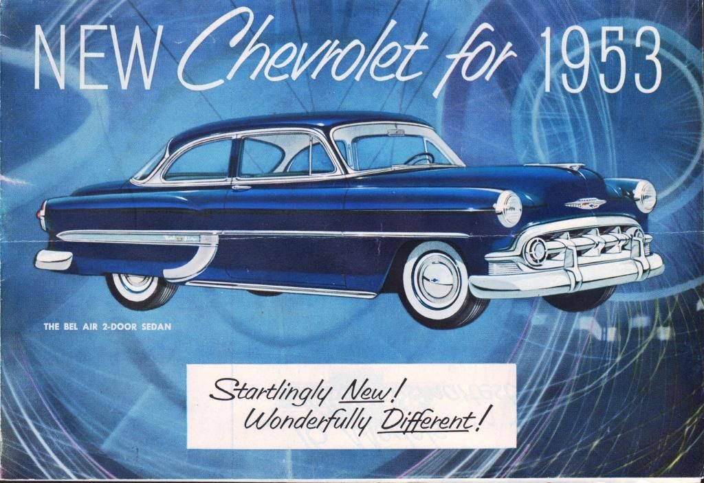 New chevrolet for 1953 show room brochure by general for Chevrolet division of general motors