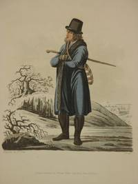 The Costume of the Hereditary States of The House of Austria: Original 1811 Bertrand De Moleville Hand Coloured Engraving - Plate 45: An Inhabitant of the Lowlands of Moravia, in his Winter Dress [Czech Republic]