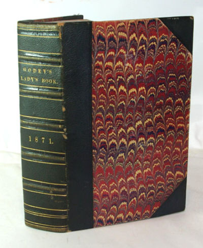 Philadelphia: Louis A. Godey, 1870. First Edition. Very good+ in 1/2 black, pebbled leather and marb...