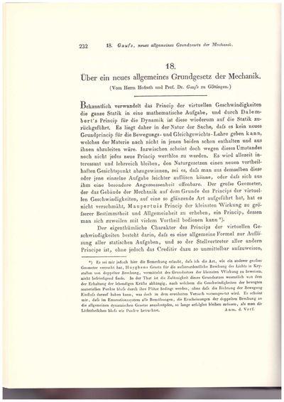 Berlin, Germany: G. Reimer, 1964. Facsimile Edition. Hardcover. Fine. Johann Carl Friedrich Gauss's ...