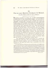 PRINCIPLE OF LEAST CONSTRAINT: Über ein neues allgemeines Grundgesetz der Machanik (Journal für...