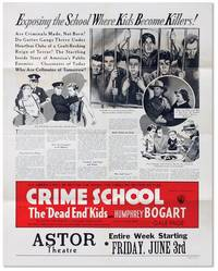 "Promotional poster for the 1938 Exploitation Film ""Crime School"" by [JUVENILE DELINQUENCY - FILM] - Paperback - 1938 - from Lorne Bair Rare Books and Biblio.co.uk"