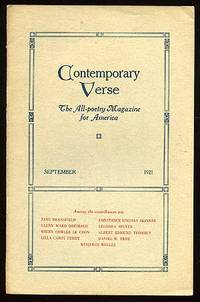 image of Contemporary Verse: September 1921
