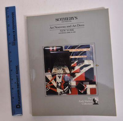 sothebys art nouveau and art deco andy warhol collection sale 6000 april 23 1988 volume 1