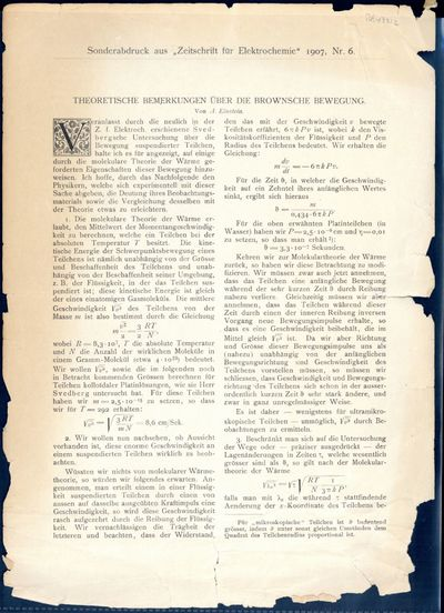 1907. Offprint from