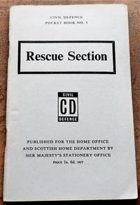 image of CIVIL DEFENCE POCKET BOOK No.5 Rescue Section