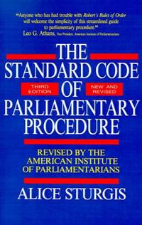 The Standard Code of Parliamentary Procedure (CLS.EDUCATION)