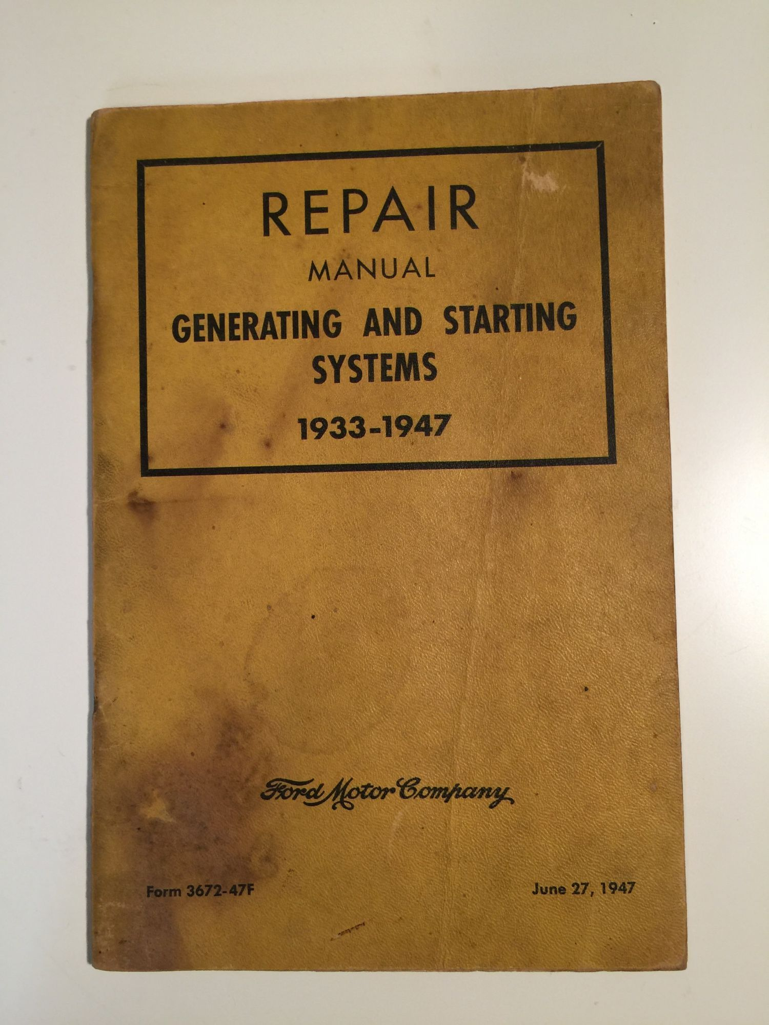 repair manual generating and starting systems 1933 1947 by. Black Bedroom Furniture Sets. Home Design Ideas