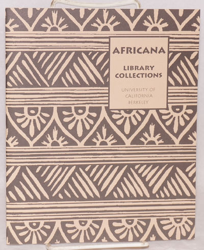 Berkeley: The Center for African Studies and The Library, 1993. 24p., a few b&w illustrations, stapl...