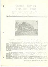 Western Ontario Historical Notes September 1943