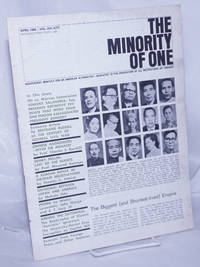 image of The minority of one; 1966, Apr, Vol. 8 No. 77 (whole number) independent monthly publication, dedicated to the elimination of all thought restrictions except for the truth [subhead later modified to read] Independent monthly for an American alternative --dedicated to the eradication of all restrictions on thought [broken run, 67 unduplicated items]