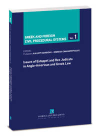 image of Issues of Estoppel and Res Judicata in Anglo-American and Greek Law