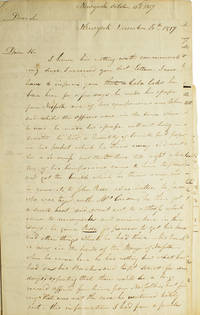 A.L.S.  To William (Morris) Merdith President of the Schuykill  (sic) Bank. About a gang of forgers led by Cela Cole. Second letter talks of his escape from Norfolk with a quantity of counterfeit paper