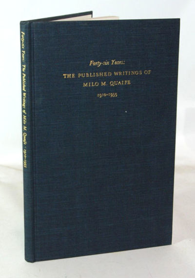 Detroit: Algonquin Club, 1956. First Edition. Fine in dark blue cloth covered boards with gilt text ...