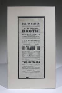 Boston Museum, Fourth Night of Mr. J. Wilkes Booth! as Richard III (Playbill for May 15, 1862)