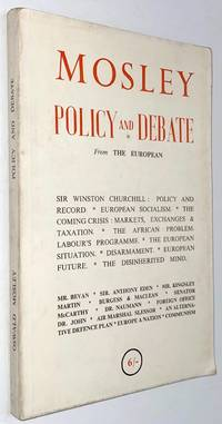 image of Mosley: politics and debate