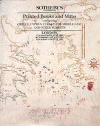 Sale 30 June - 1st & 9th July 1992 : Printed Books and Maps Comprising  Greece, Cyprus, Turkey, the Middle East and Other Subjects.