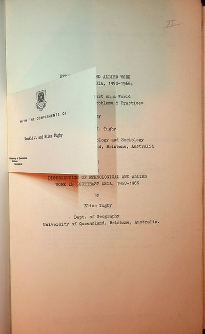: , 1967. First Edition. Cloth. Near Fine. First Edition. , ii, -89 leaves. Errata sheet laid in. Co...