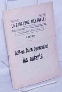 image of Doit-on Faire Communier les Enfants